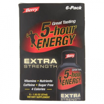 5 Hour Energy Extra Strength Berry 6 Pack