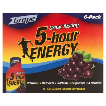 5-Hour Energy Shot Grape 6 Pack