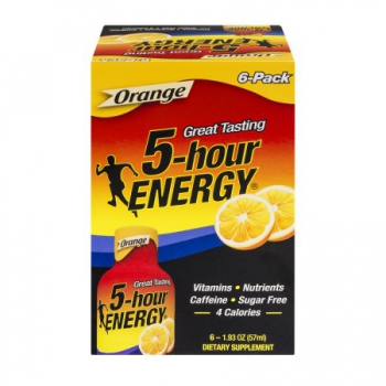 5-Hour Energy Shot Orange 6 Pack