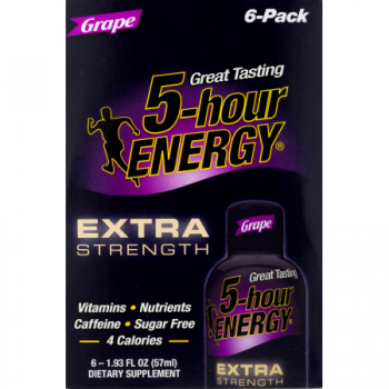 5-Hour Energy Shot Extra Strength Grape 6 Pack