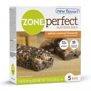 ZonePerfect Nutrition Bar, 11 Grams of Protein, Salted Caramel Brownie ca. 225g (7.9oz)