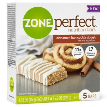ZonePerfect Nutrition Bar Cinnamon Bun Cookie Dough High Protein Energy Bars ca. 225g (7.9oz)
