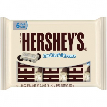 Hershey's White Chocolate Cookies N Creme, 6 Ct ca. 263g (9.25oz)