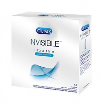 Durex Invisible Ultra Thin Sensitive Lubricated Latex Condoms