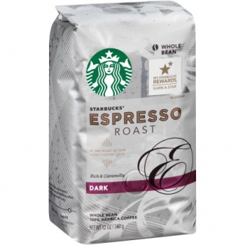 Starbucks Dark Roast Whole Bean Espresso, Original ca. 340g (12oz)