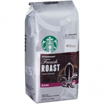 Starbucks French Roast Dark Roast Ground Coffee ca. 340g (12oz)