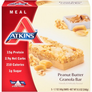 Atkins Advantage Peanut Butter Granola Bar ca. 240g (8.45oz)