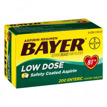 Bayer Aspirin Low Dose Safety Coated Tablets ca. 80g (2.8oz)
