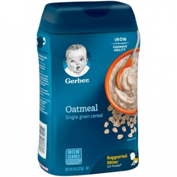 Gerber Single-Grain Oatmeal Baby Cereal ca. 226g (8oz)