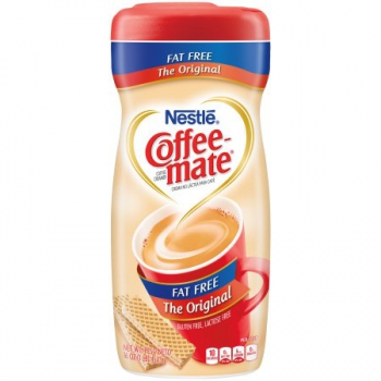 Nestle Coffee-mate Fat Free Original Powder Coffee Creamer ca. 453g (16oz)