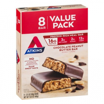 Atkins Chocolate Peanut Butter Bar ca. 480g (16.9oz)
