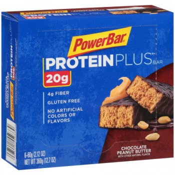 PowerBar 20g Protein Plus Chocolate Peanut Butter Bars ca. 360g (12.7oz)