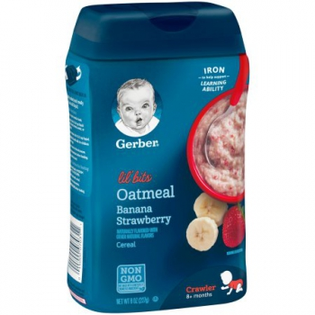 Gerber Lil' Bits Oatmeal Banana Strawberry Baby Cereal ca. 226g (8oz)