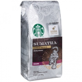 Sumatra Single Origin Earthy & Herbal Dark Coffee ca. 340g (12oz)