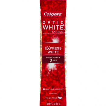 Colgate Optic White Platinum Express White Toothpaste Fresh Mint ca. 127g (4.47oz)