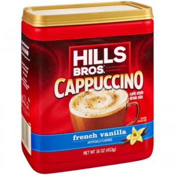 Hills Bros. French Vanilla Cappuccino Drink Mix ca. 453g (16oz)