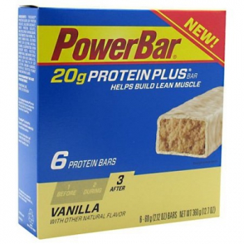 PowerBar Vanilla 20 g Protein Plus Bars ca. 360g (12.7oz)