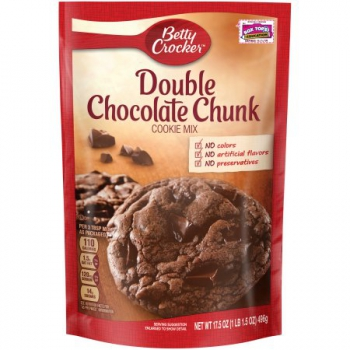 Betty Crocker Cookie Mix Double Schocolate Chunk ca. 500g (17.65oz)