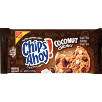Nabisco Chips Ahoy! Coconut Chunky Chocolate Chunk Cookies ca. 290g (10.2oz)