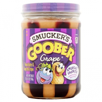 Smucker's Goober Peanut Butter & Grape Jelly Stripes ca. 510g (18oz)