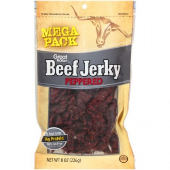 Great Value Beef Jerky Peppered Mega Bag ca. 230g (8.1oz)