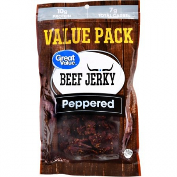 Great Value Beef Jerky Peppered ca. 280g (9.8oz)