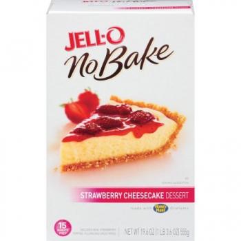 Jell-O No Bake dessert Strawberry Cheesecake Mix ca. 555g (19.5oz)