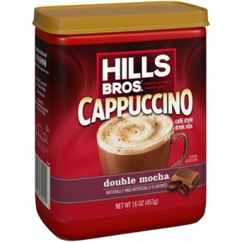 Hills Bros Double Mocha Cappuccino Drink Mix ca. 453g (16oz)