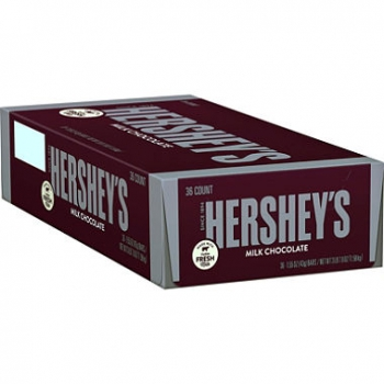 HERSHEY'S Milk Chocolate Bar, 36Ct ca. 1,58kg (3,48pounds)