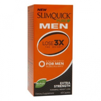 Slimquick Pure Men Extra Strength Weight Loss Dietary Supplement Caplets 60 Kapseln
