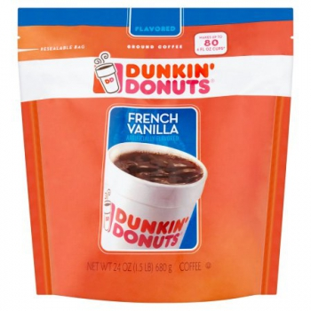 Dunkin' Donuts French Vanilla Ground Coffee ca. 680g (24oz)
