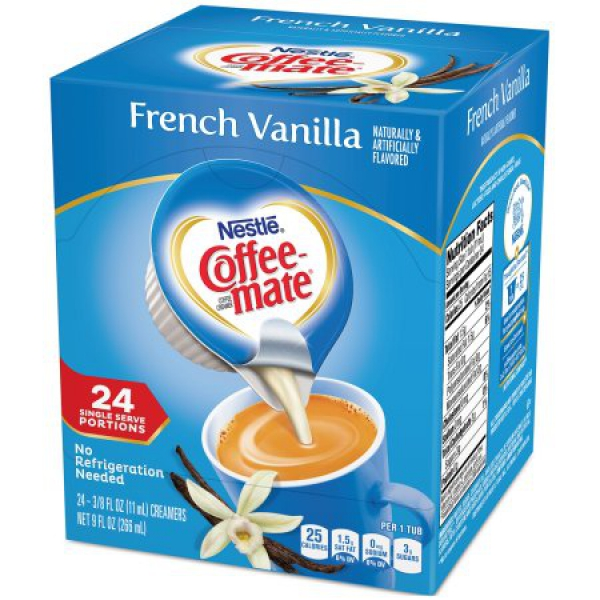 Nestle' Coffee-Mate French-Vanilla 24 Einzelpackungen fluessig ca. 266ml (9oz)